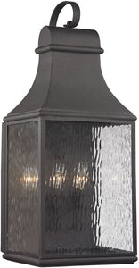 Elk Lighting Forged Jefferson 3-Light Outdoor Wall Light Charcoal 47073/3