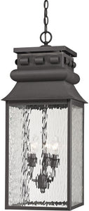 Elk Lighting Forged Lancaster 3-Light Outdoor Pendant Light Charcoal 47066/3