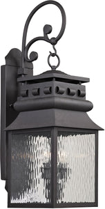 Elk Lighting Forged Lancaster 2-Light Outdoor Wall Light Charcoal 47063/2