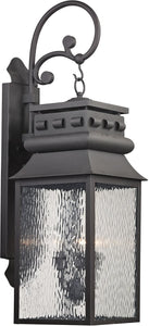 Elk Lighting Forged Lancaster 3-Light Outdoor Wall Light Charcoal 47064/3