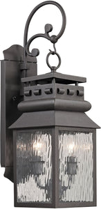 Elk Lighting Forged Lancaster 2-Light Outdoor Wall Light Charcoal 47065/2