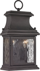 Elk Lighting Forged Provincial 2-Light Outdoor Wall Light Charcoal 47050/2