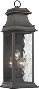 Elk Lighting Forged Provincial 3-Light Outdoor Wall Light Charcoal 47051/3