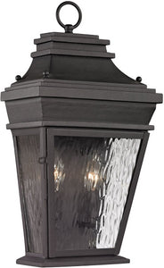 Elk Lighting Forged Provincial 2-Light Outdoor Wall Light Charcoal 47052/2