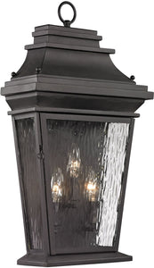 Elk Lighting Forged Provincial 3-Light Outdoor Wall Light Charcoal 47053/3