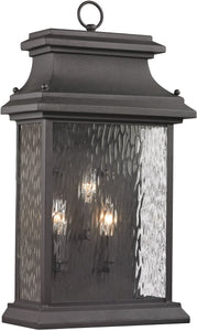 Elk Lighting Forged Provincial 3-Light Outdoor Wall Light Charcoal 47054/3