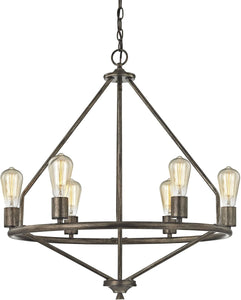Elk Lighting Galaway 6-Light Chandelier Windswept Silver 811756