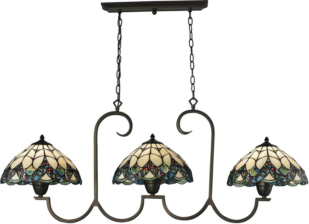 Gameroom 3-Light Billiard/Island Tiffany Bronze