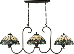 Elk Lighting Gameroom 3 Light Billiard Island Tiffany Bronze 701203