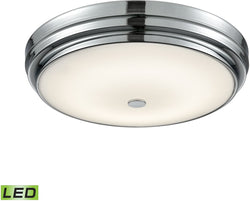 Elk Lighting Garvey Round LED Flushmount Chrome/Opal Glass - Large FML47501015
