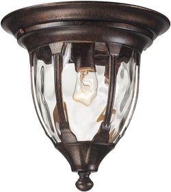 Glendale 1-Light Outdoor Flushmount Regal Bronze