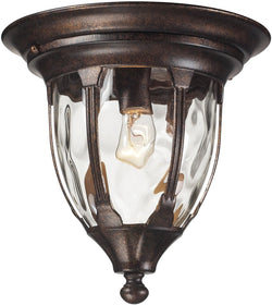 "11""W Glendale 1-Light Outdoor Flushmount Regal Bronze"