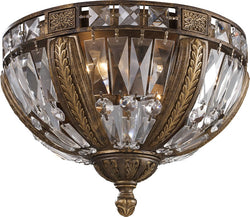 Elk Lighting Trump Home Millwood 4-Light Flush Mount Antique Bronze 24934