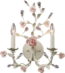"15""w Heritage 2-Light Wall Sconce Cream"