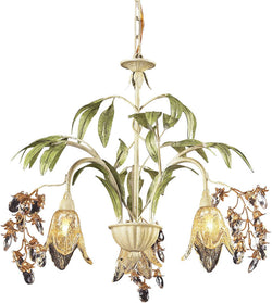 Elk Lighting Huarco 3-Light Halogen Chandelier Seashell/Amber 86052
