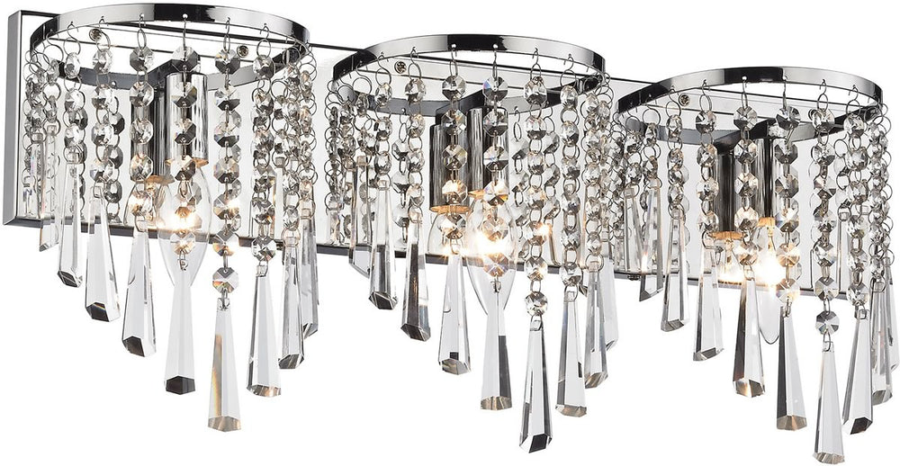 "22""W Jariah 3-Light Bath Light Polished Chrome"