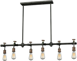 Elk Lighting Jonas 6-Light Chandelier Multi-Toned Weathered Finish 142896