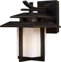 Elk Lighting Kanso 1-Light Outdoor Wall Lantern Hazelnut Bronze 421701