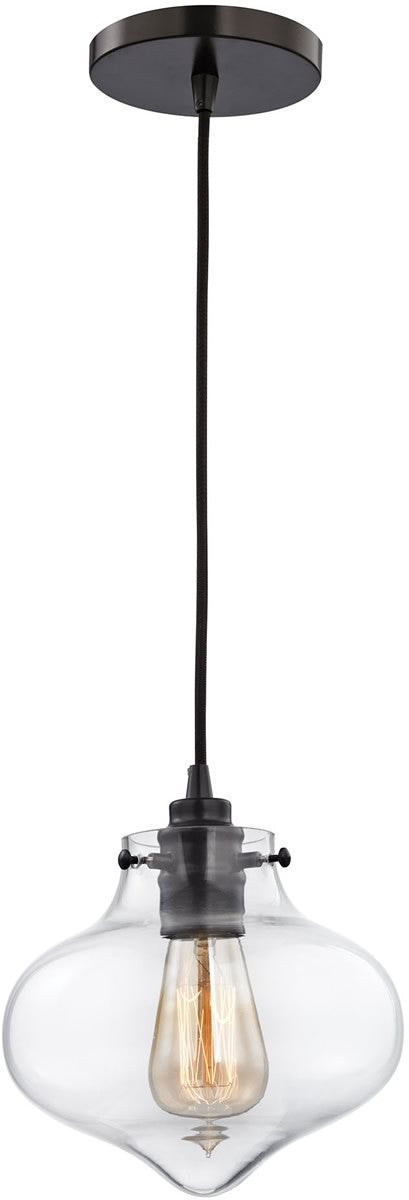 "8""W Kelsey 1-Light Pendant Oil Rubbed Bronze"