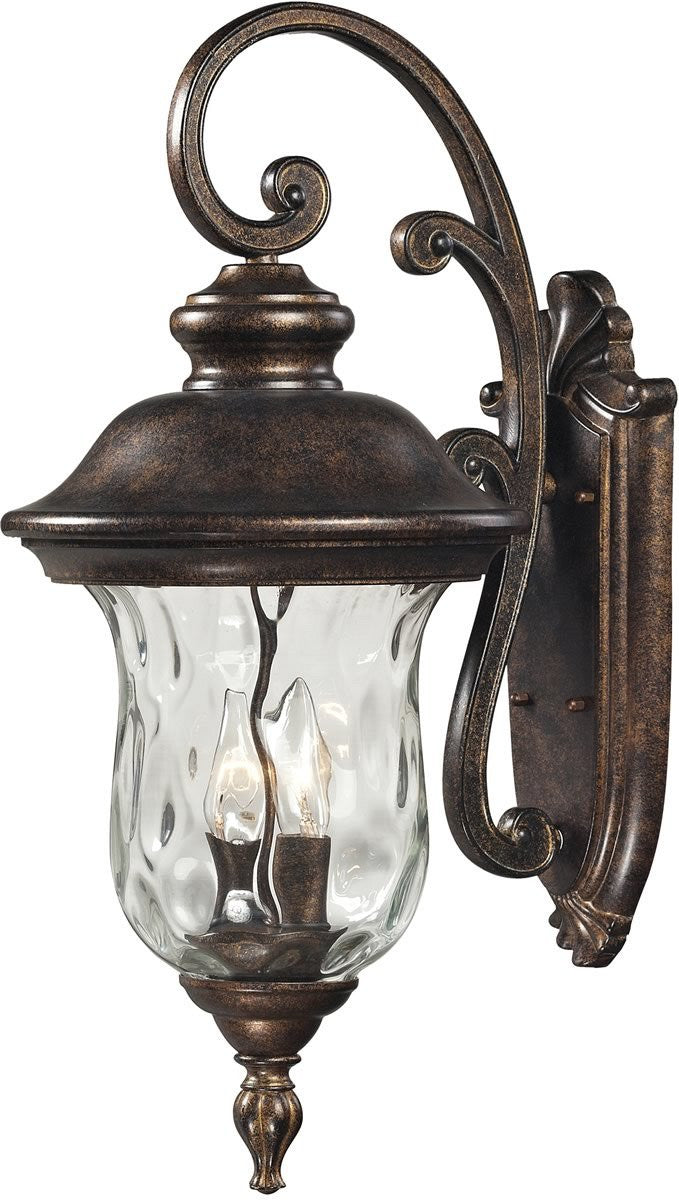 "22""H Lafayette 2-Light Outdoor Wall Sconce Regal Bronze"