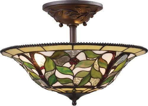 "16""W Latham 3-Light Semi Flush Tiffany Bronze"