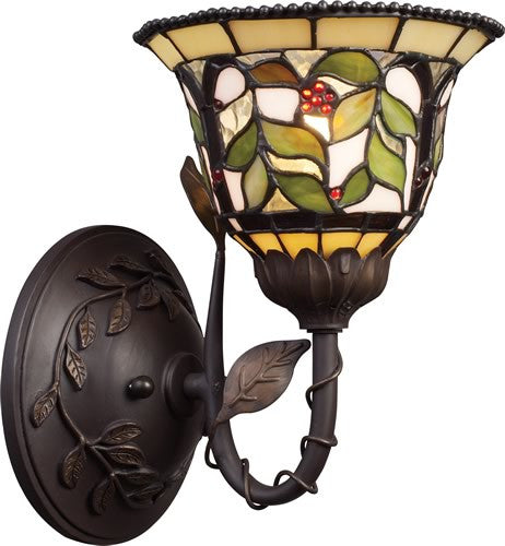 "7""w Latham 1-Light Wall Sconce Tiffany Bronze"