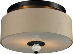 Elk Lighting Lilliana 2-Light Semi Flush Mount Aged Bronze 31371/2