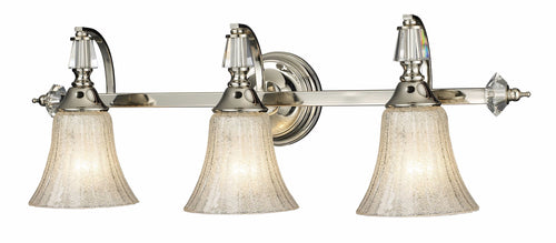 Elk Lighting Lincoln Square 3-Light Bath Vanity Polished Nickel with Clear Crystalline Glass 112013
