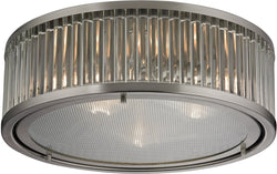 Elk Lighting Linden Manor 3-Light Flush Mount Brushed Nickel 46113/3