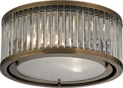 Elk Lighting Linden Manor 2-Light Flush Mount Aged Brass 46122/2