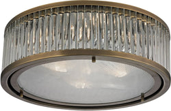 Elk Lighting Linden Manor 3-Light Flush Mount Aged Brass 46123/3
