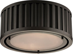Elk Lighting Linden Manor 2-Light Flush Mount Oil Rubbed Bronze 46130/2