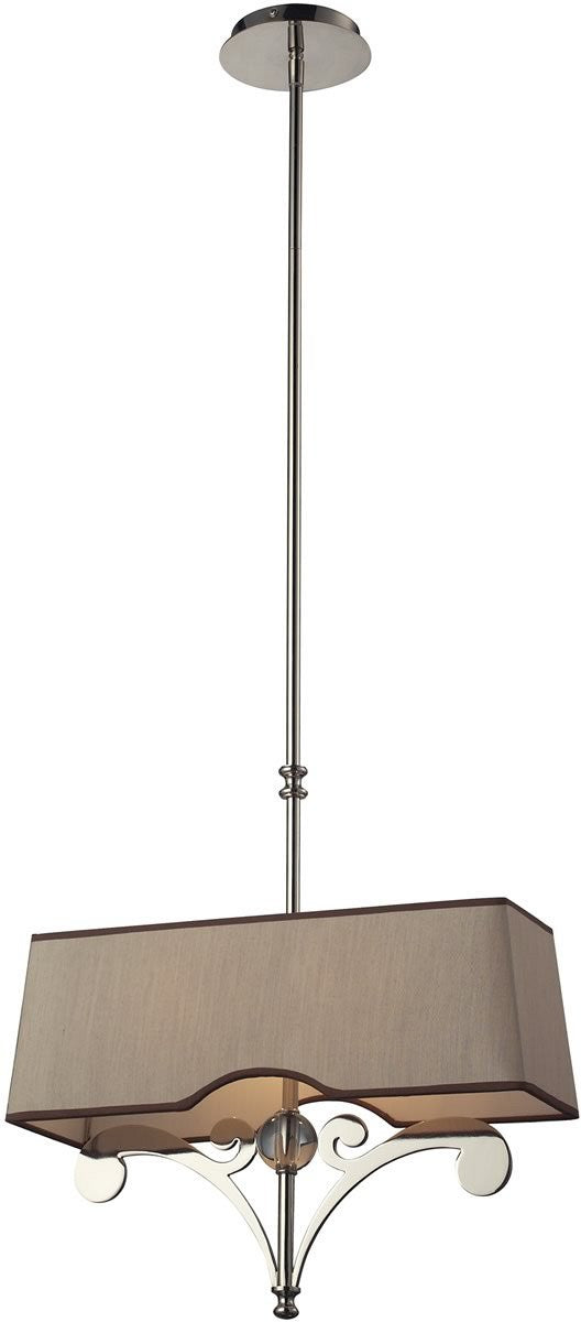 Linear Pendants 2-Light Billiard/Island Polished Nickel