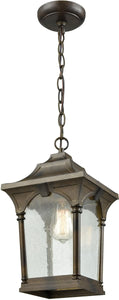 Elk Lighting Loringdale 1-Light Outdoor Wall Sconce Hazelnut Bronze/Clear Seedy Glass 450471