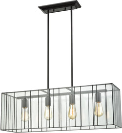 Elk Lighting Lucian 4-Light Chandelier Oil Rubbed Bronze/Clear Glass 721964