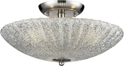 Elk Lighting Luminese 3-Light Semi Flush Mount Satin Nickel 10271/3