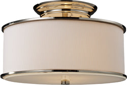 Elk Lighting Lureau 2-Light Semi Flush Mount Polished Nickel with Cream Glass 200612