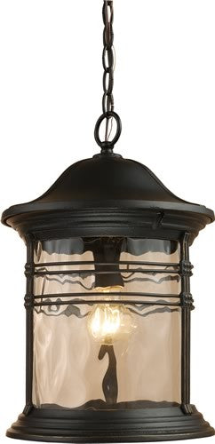 "11""W Madison 1-Light Outdoor Pendant Matte Black"