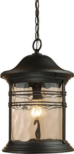 Elk Lighting Madison 1-Light Outdoor Pendant Matte Black 08160MBG