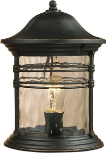 Elk Lighting Madison 1-Light Outdoor Post Mount Matte Black 08169MBG