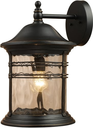 "18""h Madison 1-Light Outdoor Wall Mount Matte Black"