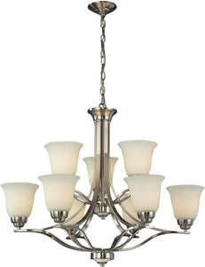 Malaga 9-Light Chandelier Brushed Nickel