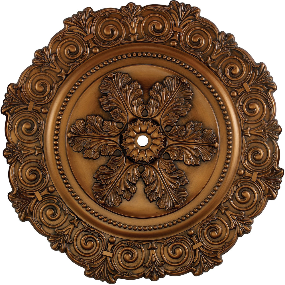 "33""W Marietta Ceiling Medallion Antique Bronze"