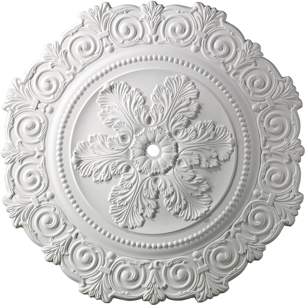 "33""W Marietta Ceiling Medallion White"