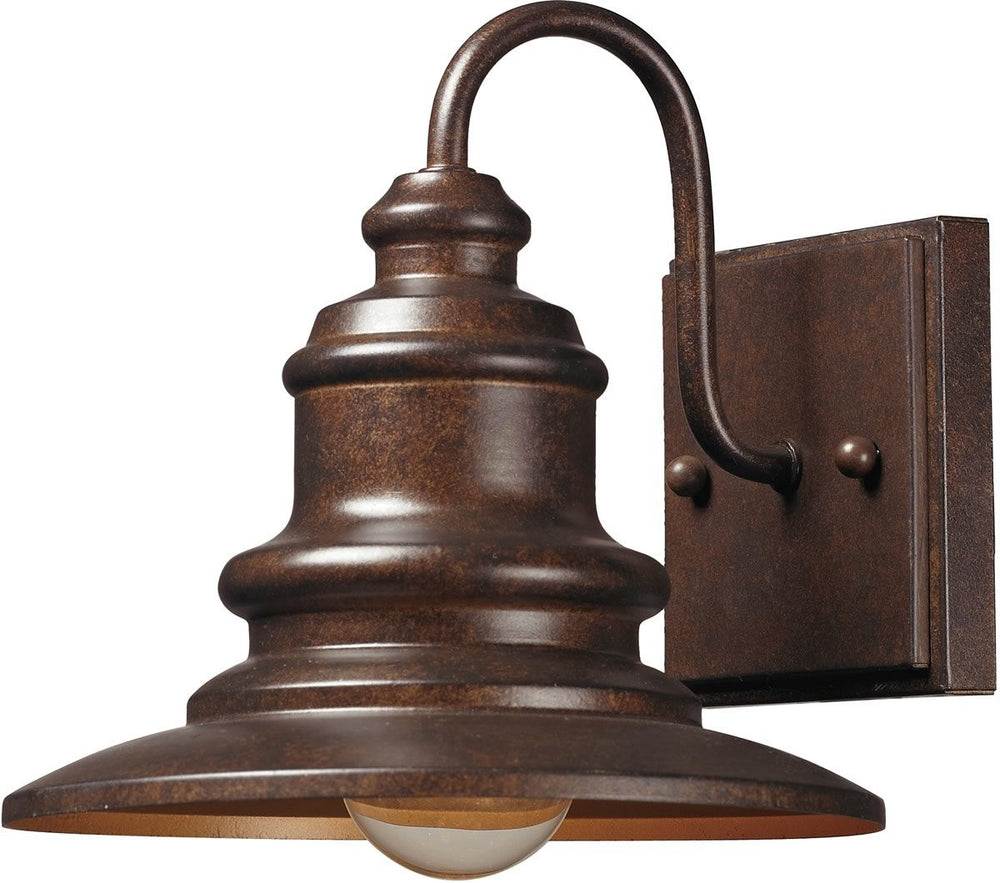"8""H Marina 1-Light Outdoor Wall Sconce Hazelnut Bronze"
