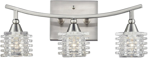 Elk Lighting Matrix 3-Light Bathbar Satin Nickel 171313