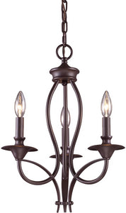 Elk Lighting Medford 3-Light Chandelier Oiled Bronze 610313