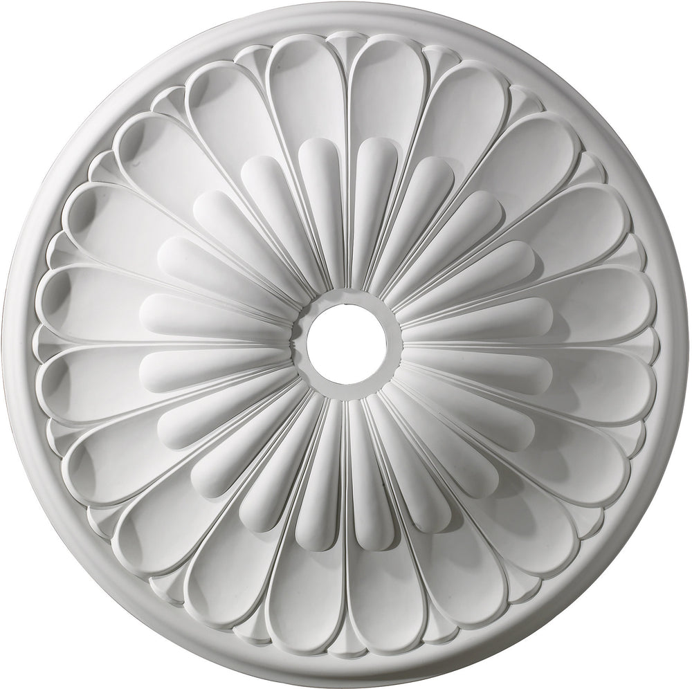 "32""W Melon Reed Ceiling Medallion White"