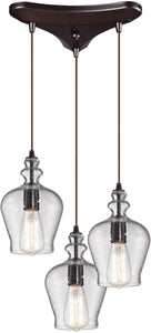 Elk Lighting Menlow Park  3-Light Chandelier Oil Rubbed Bronze 60066-3