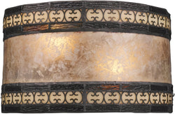 "10""w Mica Filigree 2-Light Wall Sconce Tiffany Bronze"